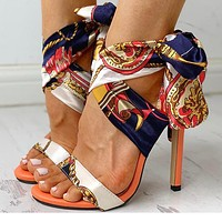 Fashion Super-high Sandals Large Size Slender High-heeled Women's Shoes