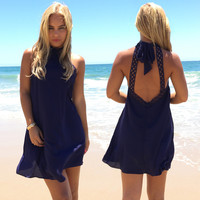 Taken Back Dress in Navy
