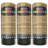 Gold Confetti Party Poppers 3ct- Party City