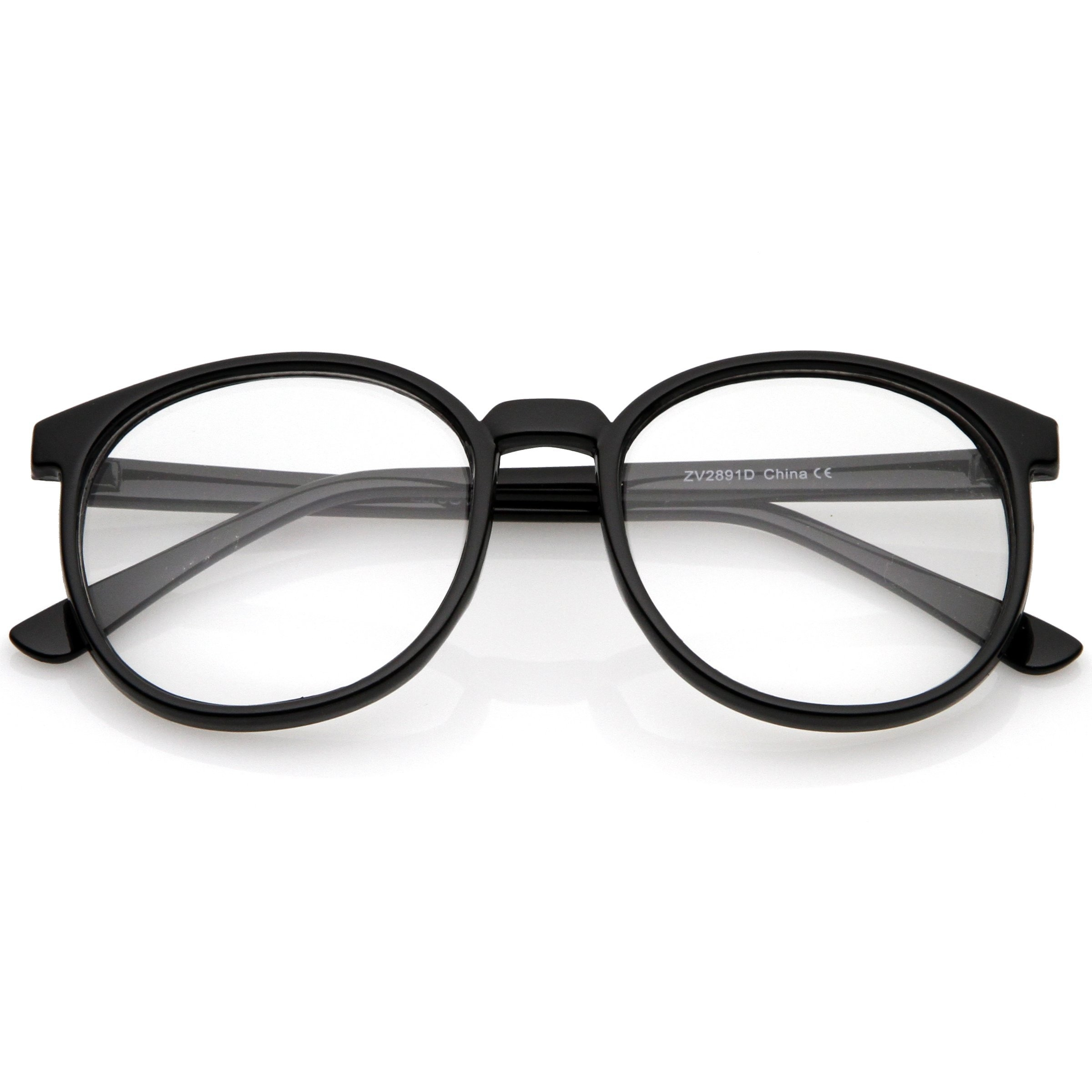 Image of Vintage Inspired Dapper Round Clear Lens P-3 Glasses 2891