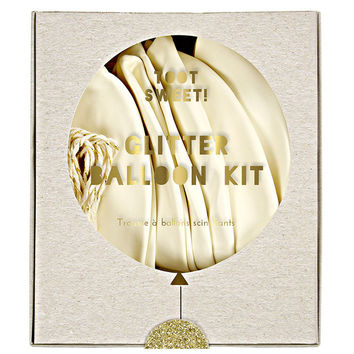 glitter balloon kit
