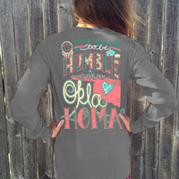 Long Sleeve - It's hard to be humble when your from OKLAHOMA women's tshirt