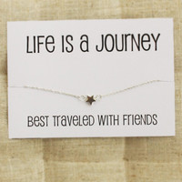 Life is a Journey Best traveled with friends Gift Card Bangle Fashion Woman Bracelet