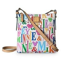 Mickey and Minnie Mouse Rainbow Letter Carrier Bag by Dooney & Bourke | Disney Store