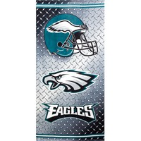 Philadelphia Eagles - Chrome Shield Velour Beach Towel