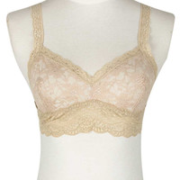 Nude Sheer Lace Soft Bra