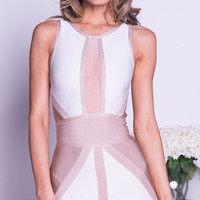 ROCHA BANDAGE DRESS