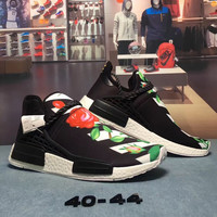 OFF-WHITE x Adidas Hu NMD Woman Fashion Running Sneakers Sport Shoes