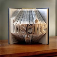 Folded Book Art  Inspirational Quote  Unique by LucianaFrigerio