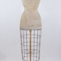 Vintage Dress Form / Vintage Dress Form With Cage Skirt