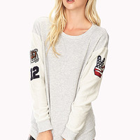 Cool Girl Patch Sweatshirt | FOREVER 21 - 2000092973