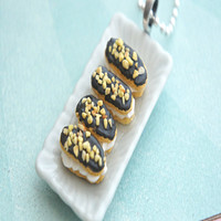 chocolate eclair platter necklace