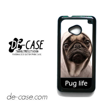 New Design Funny Hilarious Pug Life Parody Fans For HTC One M7 Case Phone Case Gift Present