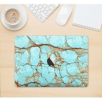 """The Cracked Teal Stone Skin Kit for the 12"""" Apple MacBook"""