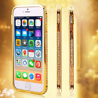 HIgh quality Luxury Bling Snake Diamond Inlay Metal Rhinestone Bumper fashional phone case for iPhone 5 5S PT6063