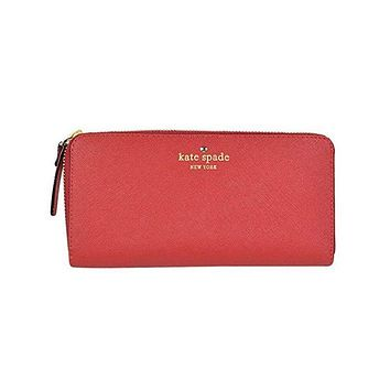 Kate Spade Red Leather Mikas Pond Stacy Wallet
