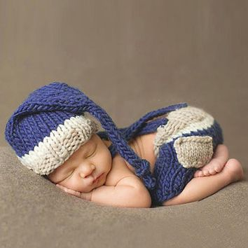 born Photography Props Handmade Costume Knitted Crochet born Baby Props Baby Caps Hats