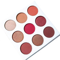 2016 NEW Eyeshadow Palette 9 Color In 1 BURGUNDY PALETTE Make Up Cosmetics Matte Eyeshadow Eye Shadow Palette By Kyshadow Kit