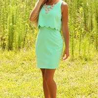 For One Night Dress: Mint