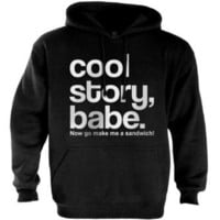 Amazon.com: Cool Story Babe Hoodie: Clothing