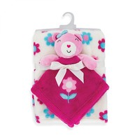 2-PIECE SECURITY BUDDY AND BLANKET SET - GIRL