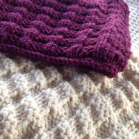 GIft for Mom on the go Custom Order for handmade knit Infinity Scarf in Chunky thick yarn multiple colors, cowl,