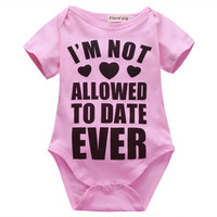 Infant Toddler Newborn Baby Girls Boys Clothes Letter Print Romper Casual Jumpsuit One Piece Outfits 0-18M