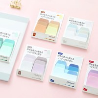 24 pcs/Lot Rainbow Color stickers Post it sticky note Memo pad Bookmarks Scrapbooking Office planner agenda School supplies 6662