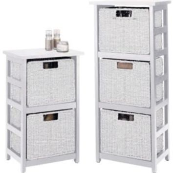 Buy Rattan Effect 2 Drawer and 3 Drawer Storage Units - White at Argos.co.uk - Your Online Shop for Bathroom shelves and units.