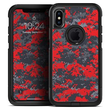 Red and Gray Digital Camouflage - Skin Kit for the iPhone OtterBox Cases