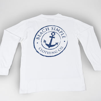 Classic Anchor Long Sleeve - White Crest