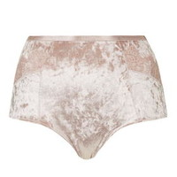 Velvet and Lace Knickers - Blush