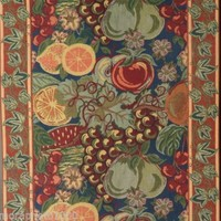 Long Tapestry with Fruit Decor by Renaissance Woven Art New York Tapisserie