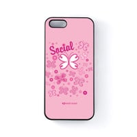 Sassy - Social Butterfly #10485 Black Hard Plastic Case for iPhone 5/5s by Sassy Slang