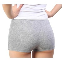 Fashion Sexy Cotton Panties Women's Boyshort Female Breathable Pants Ladies Large Size Underwear Girls Underpant Fat