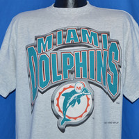 90s Miami Dolphins 1996 NFL Logo 7 t-shirt Large