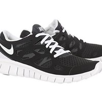 Nike Wmns Free Run 2 Black White Womens Barefoot Running Shoes 443816-001 [US size 5.5]