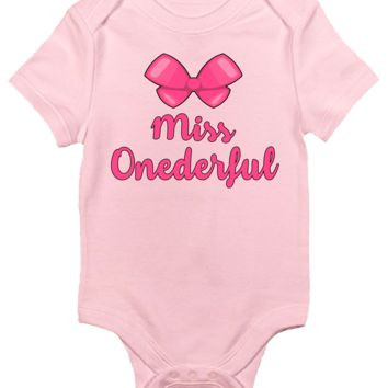 Baby Bodysuit for Girls - Miss Onederful