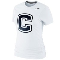 Nike UConn Huskies Womens Foundation Slim Fit T-Shirt - White