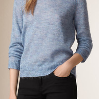 Openstitch Detail Mohair Wool Sweater