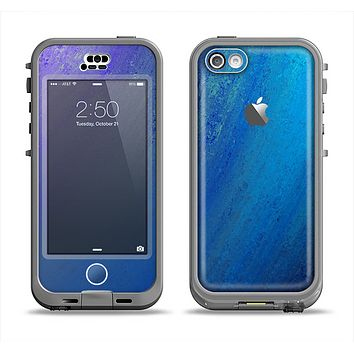 The Pastel Blue Surface Apple iPhone 5c LifeProof Nuud Case Skin Set