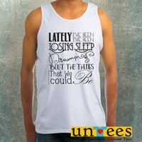 One Republic Counting Star Lyrics Clothing Tank Top For Mens