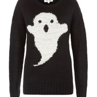 New Look Mobile | Black Ghost Knitted Jumper