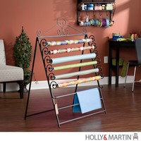 Evelyn Easel Wall Mount Craft Storage Rack Black