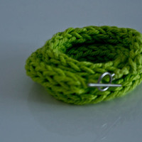 French knitted wool bracelet