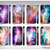 iPhone 4 4S - Nebula galaxy galactic cosmic space ombre swag case cover