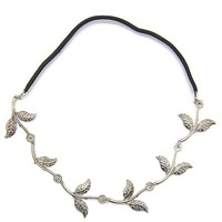 Silver Leaf Headband in Silver