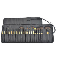 Natural Wooden Make Up Brush Set 24 Pieces