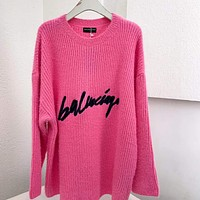 Balenciaga Women Fashion Pullover Sweater