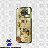 Fun Stuff Meow for iphone 4/4s/5/5s/5c/6/6+, Samsung S3/S4/S5/S6, iPad 2/3/4/Air/Mini, iPod 4/5, Samsung Note 3/4 Case * NP*